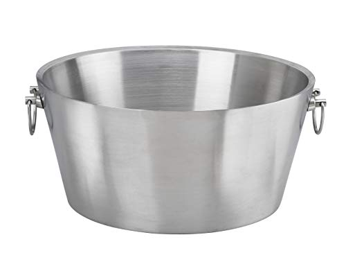 """Kraftware Party Tub - 19"""" inch Doublewall Insulated Stainless-Steel, Back Yard BBQ Beer Tub Great for Weddings, Special Events and Parties"""