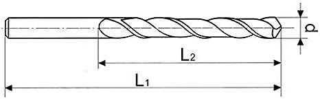 in lega di carbonio 0,3 mm Punta elicoidale per metallo ARTPOL HSS-Co