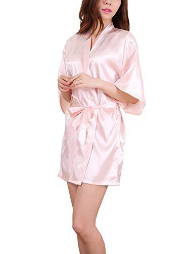Adelina Badjas voor dames, in kimono, voor bruid, bruid, bruidsmeisjes, jurk, nacht modieus, compleet, warm, pyjama, nachthemd, nachtkleding