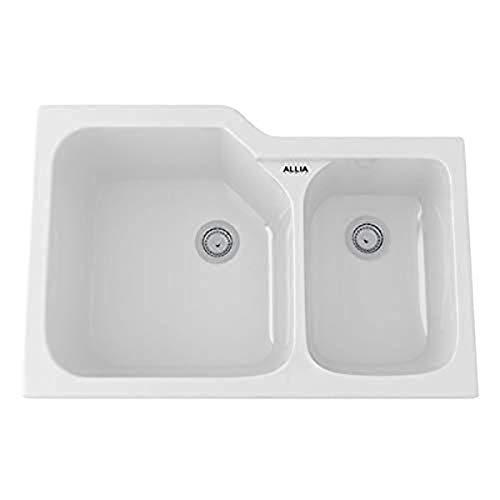 Rohl 6337-00 FIRECLAY KITCHEN SINKS, 33-Inch by 22-Inch, White (00)
