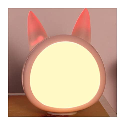 WQXD Luz Nocturna LED, Carga USB Guardar por Ahorro de energía Dentronchos de atenuación, para Sala de Estar Dormitorios Habitación para niños Lámpara de Noche (Color : Pink, Light Color : Tricolor)