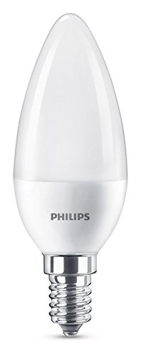 Philips Lighting Lampadina LED Oliva, Attacco E14, 7 W Equivalenti a 60 W, 2700 K Luce Bianca Calda Naturale