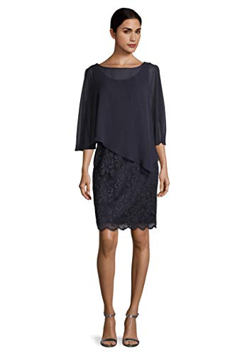 Vera Mont Damen 0095/4805 Kleid, Blau (Night Sky 8541), 38