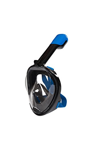 Lidaway Underwater Diving Máscara Snorkel Set Máscara de respiración Completa de Snorkel con tecnología Anti-Fog y Anti-Leak se Adapta a Todos los Nadadores y Amantes del Buceo (Negro, L/XL)