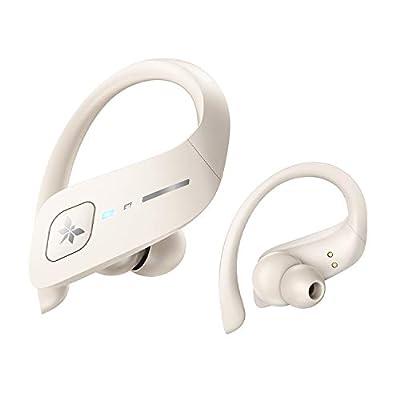 Axloie ET1 Wireless Earbuds, Bluetooth 5.0 Headphones True Wireless Premium Deep Bass IPX7 Waterproof 35H Playtime in-Ear TWS Stereo Earphones with Charging Case for Sport Running Workout?