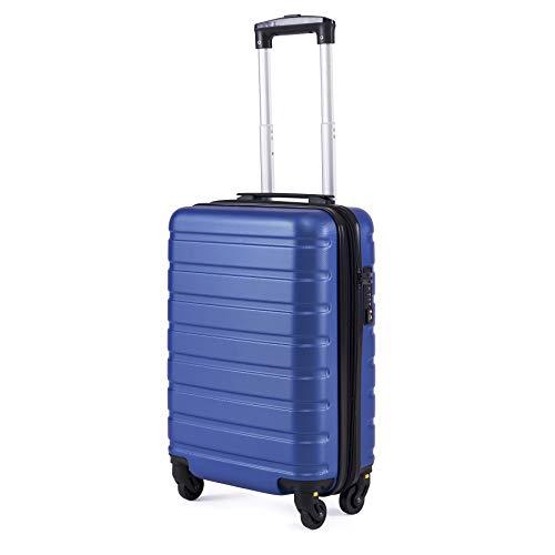 Toctoto Bagaglio a Mano Espandibile con Lucchetto TSA (18' 38LT 52x33x20cm), Adatto Per Voli Low Cost Bagaglio Da Cabina Ryanair, Vueling, Wizz Air (18'(52cm-38L)-Royal)