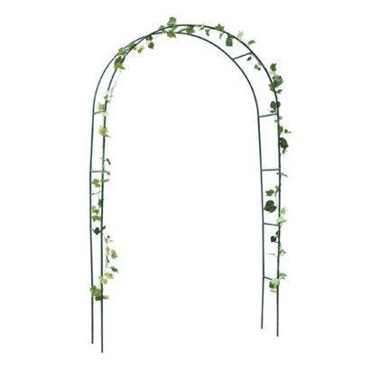 Zizzi New Garden Rose Arch Climbing Plants Metal Trellis Support Archway Roses 2.4m Shopmonk