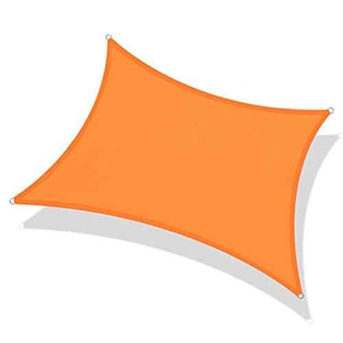 NEVY - Vierkante rechthoek 160GSM Polyester Oxford Stof Zwembad Cover Zonnebrandcrème Tent Waterdichte Luifel Patio Plant Cover UV Blok Luifel Decoratie Zonnescherm (Kleur: Oranje, Maat : 3x5m)