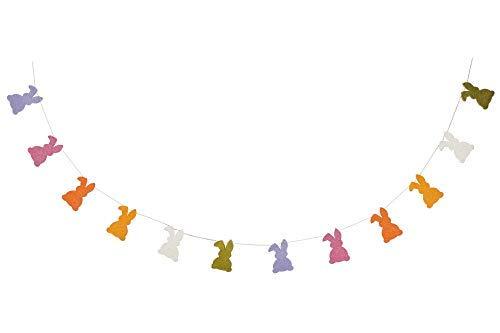 De Kulture - Ghirlanda di Coniglio Pasquale, Fatta a Mano, in Feltro, Ideale Come Decorazione Pasquale, Decorazione per la casa, Festa (Multicolore)
