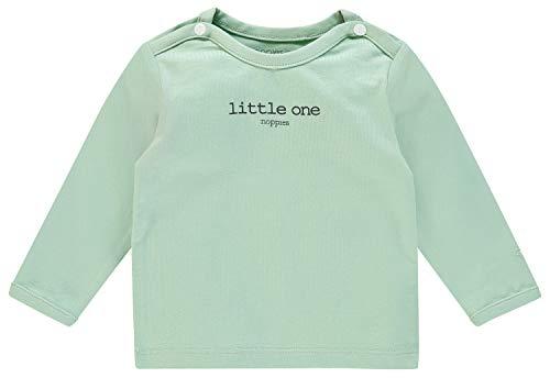 Noppies U tee LS Hester Text Camiseta, Verde (Grey Mint C175), 74 para Bebés