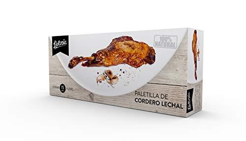 LIVANIA - Paletilla de cordero LECHAL, peso aproximado 650-750g. Cocinada a baja temperatura en su jugo, lista para dorar.
