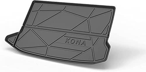 Coche Alfombrillas para maletero para Hyundai KONA 2018-2020, Goma Alfombra Maletero Antideslizante Coche Interior Protectora...