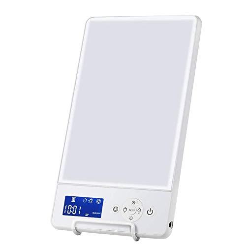 FJLOVE Tageslichtlampe 10000 lux mit Stufenlosem Dimmer,USB LED Daylight Lamp mit Zeitschaltuhr,Lichttherapielampe für Depressionen und Müdigkeit
