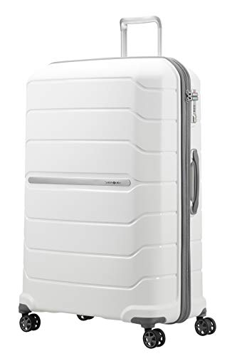 SAMSONITE Flux - Spinner 81/30 Expandable Bagage cabine, 81 cm, 145 liters, Weiß