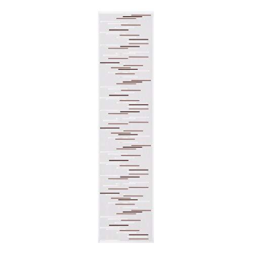 Gardine / Vorhang / Flächenvorhang ZEENA / Schiebevorhang B/H: 60x245cm / Halbtransparente Qualität / Scherli Effekt / braun