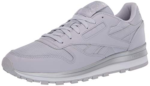 Reebok Klassische Damen-Sneaker aus Leder., Grau (Sterlinggrau/Silber metallisch/Weiß), 40 EU