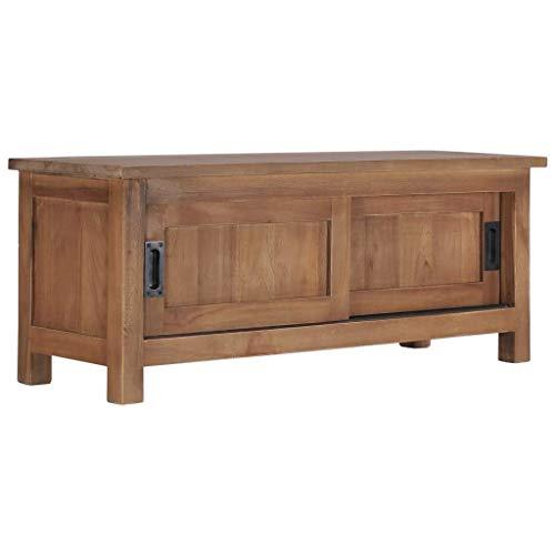 Alysays Mueble de televisión de TV Mueble de TV Mueble de Almacenamiento 903035 cm Teca Maciza