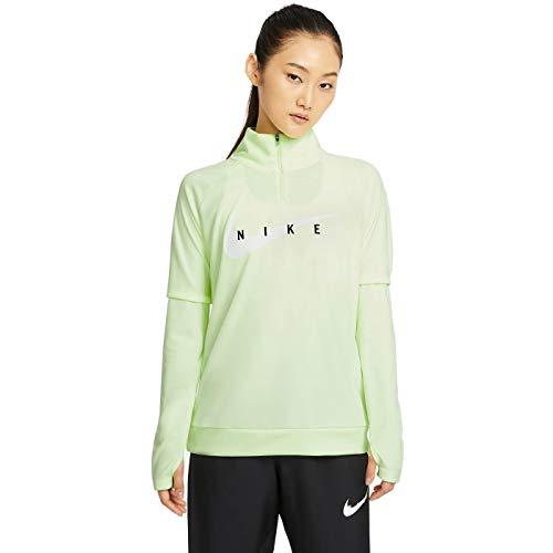 NIKE Sudadera para Mujer Swoosh Run Hz Midlayer Barely Volt/White XL
