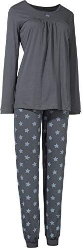 laritaM Schlafanzug Single-Jersey Graphit Größe 42