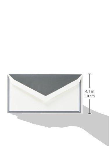 Crane & Co. Charcoal and Navy Border Monarch Correspondence Card (CC7400) Photo #2