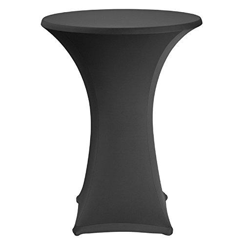 LM-Distribution Table haute bar mange debout + housse nappage Ø : 80 cm. H : 110 cm. Coloris noir