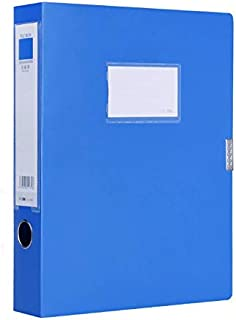 Document Box Plastic Archive Box Office Supplies, A4 File Boxes Plastic with Lid, Storage Folder Storage Box File Organizer, Height 55mm, Blue
