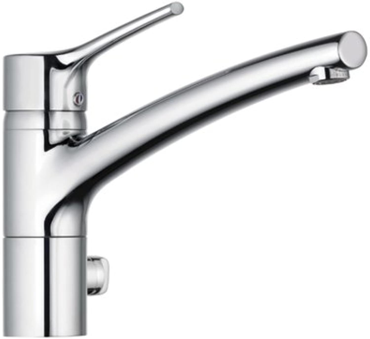 Kludi Trendo 335760575 Single-Handle Kitchen Sink Mixer Tap with Multi-Connector DN10 Chrome