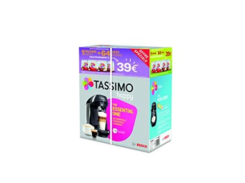 Bosch Tassimo Happy tas1002C cafetera bebidas calientes, Negro