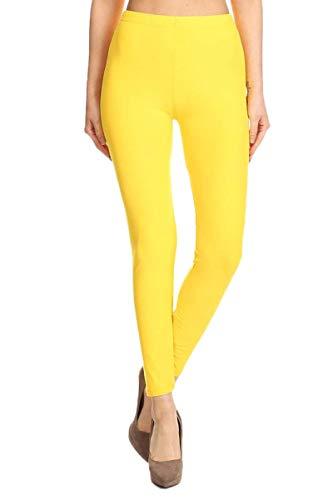 Leggings Mujer Largo Deportivas Leggins Yoga Pantalones Para Mujer (40, Amarillo)