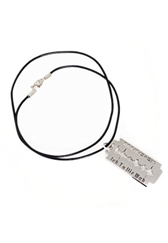 Rammstein - Halskette - mit Anhänger Rasierklinge - Offizielles Band Merchandise