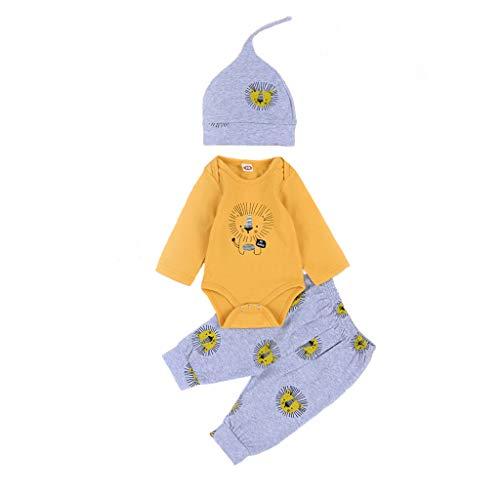 Mamum Nouveau-né Infantile Bébés Garçons Filles Lettre Imprimé Romper Combinaison Pantalon Cap Costume Girls Boys