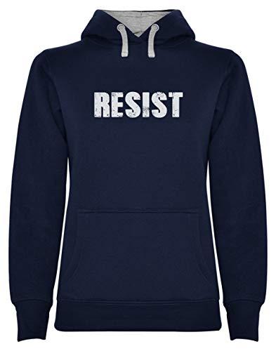 Green Turtle T-Shirts Resist Political Anti Protest - Protestation Politique Sweatshirt Capuche Femme Large Marine