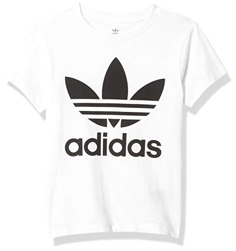 adidas Originals - Camiseta unisex para niña pequeña con trébol - Multi - Large