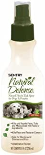 SENTRY Natural Defense Natural Flea and Tick Spray for Dogs and Puppies, Rid Your Dog of Fleas, 8 oz