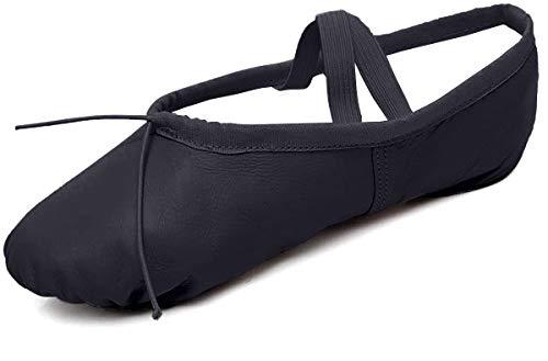 DoGeek Ballettschuhe von guter Qualitat Weiche Spitzenschuhe,Schwarz,40 EU