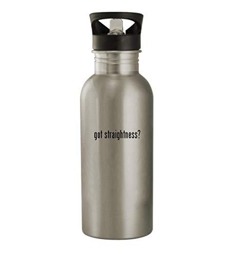got straightness? - 20oz Stainless Steel Water Bottle, Silver