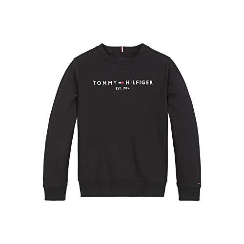 Photo of Tommy Hilfiger Boys' Essential CN Sweatshirt Sweater, Black, 8