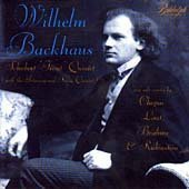 Wilhelm Backhaus (piano) - Schubert Trout Quintet (with the International String Quartet) / Chopin: Waltz in D-flat Op. 64 No. 1; Etudes (Op. 10 No. 2, Op. 25, Nos. 2, 3, 11); Polonaise in A Op. 40 No. 1 / Liszt: Hungarian Rhapsody No. 12 / Brahms: Variations on a Theme of Paganini (1997-12-16)