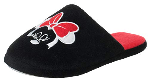Dames Disney pantolette Minnie Mouse zwart/rood