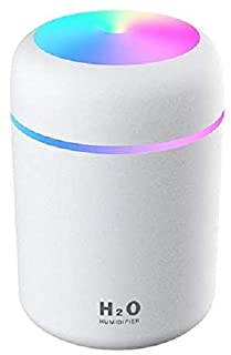 Colorful Cool Mini Humidifier, USB Personal Desktop Humidifier for Bedroom,Office Room, Car,etc. Auto Shut-Off, 2 Mist Mod...