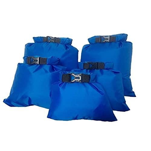 EElabper El Agua Seca Impermeable Bolsa Ligera Deriva arneses portátil Impermeable para Aguas bravas Kayak canotaje Que acampa yendo Snorkeling Blue 5PCS