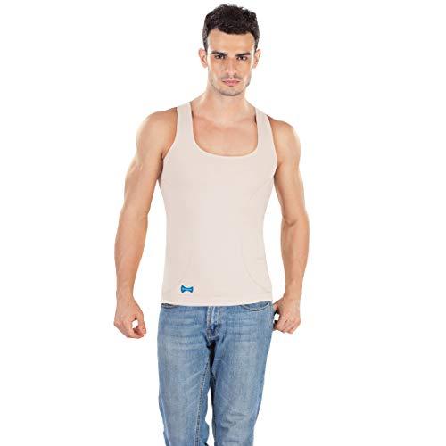 dermawear Men's Zenrik Everyday Shapewear Vest (A-306A_Cream_X-Large)