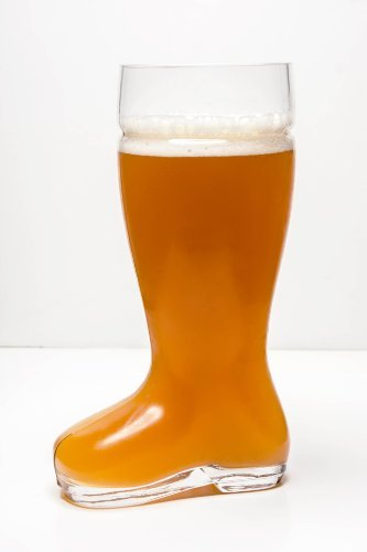 Imperial Home MW1871-BB Oktoberfest Style Glass Beer Boot/Das Boot - Octoberfest Glass Beer Mug - 2 Liter