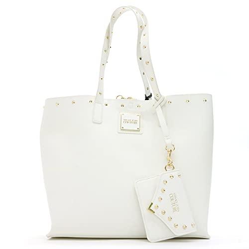 Versace Jeans Bolso de mujer con tachuelas, color blanco