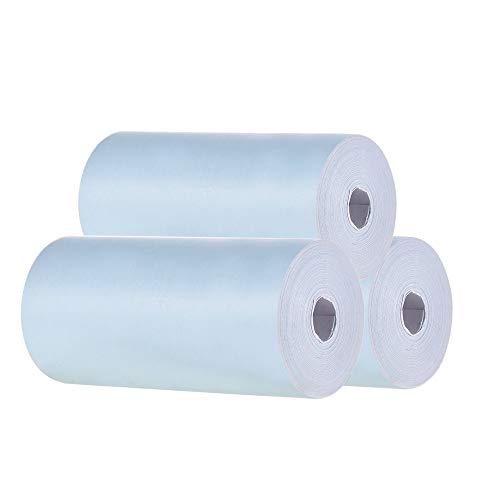 Aibecy Rollo de papel térmico en color 57*30mm Papel fotográfico de recibo de recibos Impresión clara para PeriPage A6 Impresora térmica de bolsillo para mini impresora de fotos PAPERANG P1/P2,3 pcs