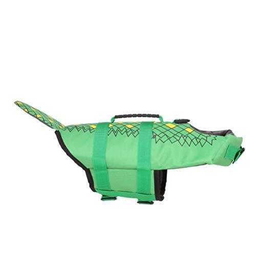 TangYang verstellbare Hund Schwimmwesten, Hund Schwimmweste verstellbare Hai Floatation Pet Lifesaver Weste mit Griff zum Schwimmen und Bootfahren, Sommer Badeanzug Mantel Badeanzug Hund Jacke Leben