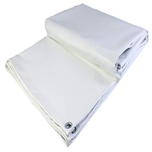 Très grande toile blanche de bâche avec des oeillets étanche à l'humidité de protection solaire pour la couverture de vélo de jardin pour animaux de compagnie, abri de camping décoratif 500g / M2