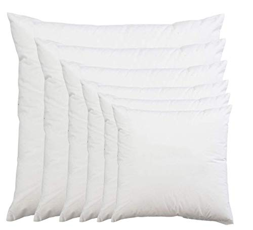 Lancashire Bedding Hotel Quality Extra Filled Hollowfibre 24 inch Cushion Pads - 2 Pack