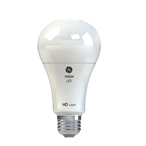 GE Lighting Relax LED HD 17-watt (100-watt Replacement), 1600-Lumen A21 Light Bulb with Medium Base, Soft White, 2-Pack