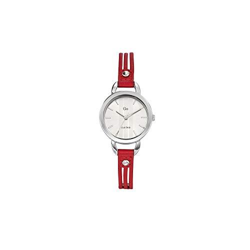 Go girl only 698583 - Reloj de Pulsera Mujer, Piel, Color Rojo